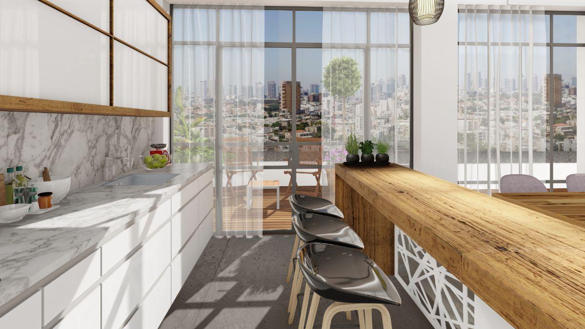 עיצוב פנים מטבח ומרפסת | אדריכלות מטבח ומרפסת - מטבח ומרפסת
