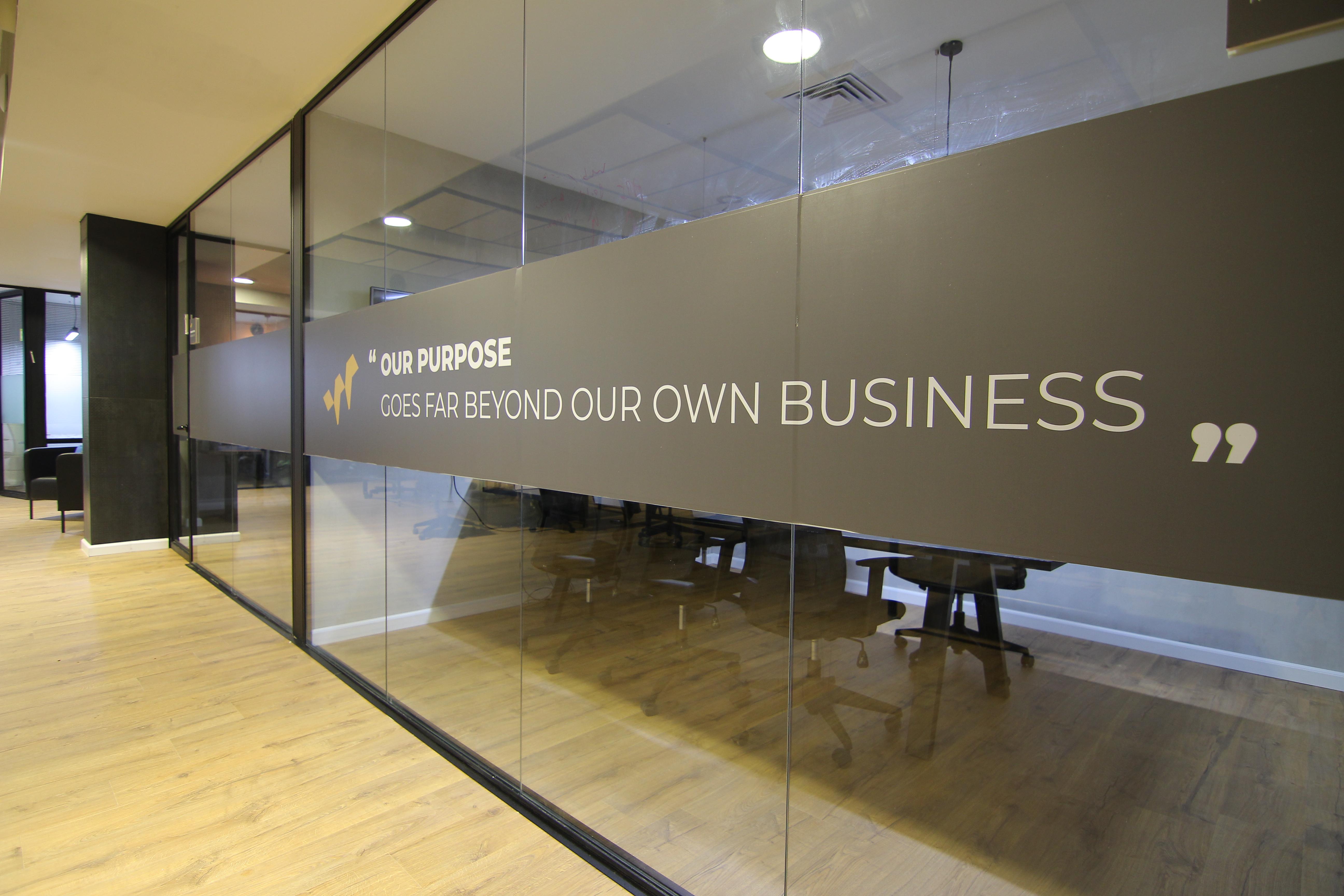 עיצוב פנים מדבקה על זכוכית למשרד | אדריכלות מדבקה על זכוכית למשרד - מדבקה על זכוכית למשרד